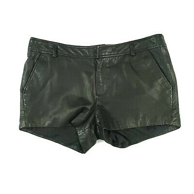 $31.49 • Buy Joie Lamb Leather Shorts SZ 6 Black