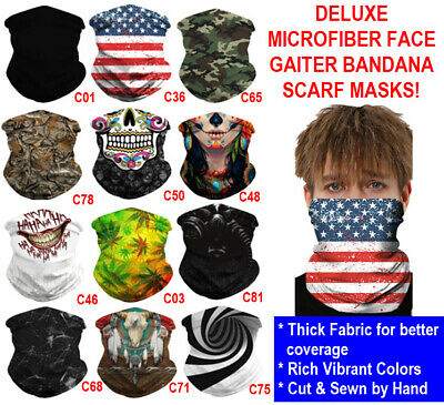 $10 • Buy Deluxe Tube Bandana Scarf Neck Gaiter Head Face Mask Multi-use Outdoor Cap Lot