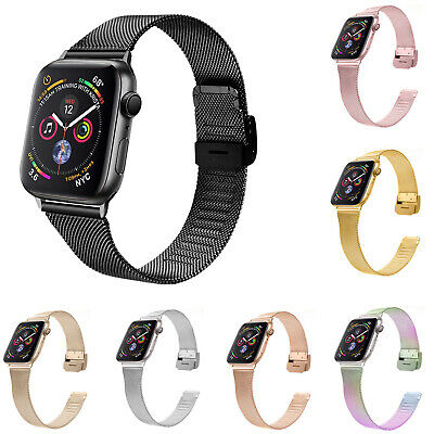 AU16.90 • Buy Sports Milanese Loop Band For Apple Watch 38 40mm 42 44mm Stainless Steel Strap