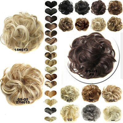 £5.99 • Buy Curly Messy Bun Hair Piece Scrunchie Updo Natural Hair Extensions Real As Human