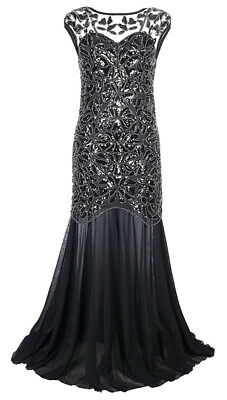 $68.99 • Buy Vintage Women 1920s Flapper Maxi Wedding Party Long Evening Formal Dresses Gowns