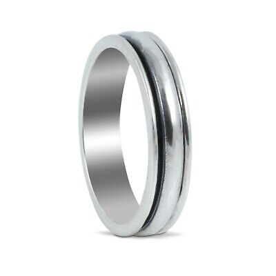 Handmade Spinning Plain Band Ring In 925 Sterling Silver. • 26£