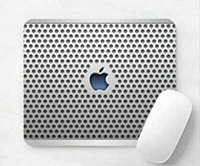 Apple Mac Logo Steel Laptop Desktop Computer Mouse Mat Pad • 5.99£