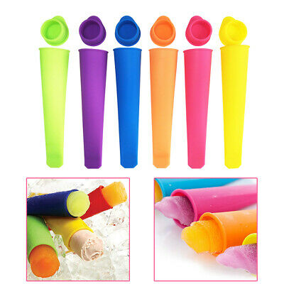 6pcs Silicone Ice Block Moulds/Ice Cream Molds/Icy Pole Jelly Popsicle Maker • 6.02£