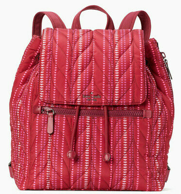 $ CDN433.69 • Buy TEST Kate Spade Ellie Large Flap Backpack Cranberry Red WKRU6439 $329 Retail