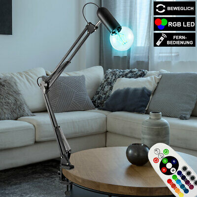 RGB LED Table Lamp Clamp Spotlight Movable REMOTE CONTROL Reading Lamp DIMMABLE • 46.59£