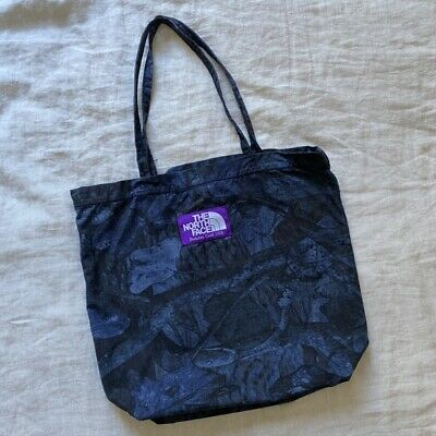 $90 • Buy The North Face Purple Label Tote Japanese Limited Edition Navy FloralPrint Japan