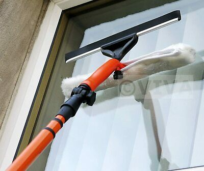 Window Glass Cleaning Cleaner Kit With Squeegee New 3.5m Telescopic • 12.99£