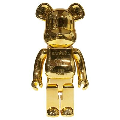 $5000 • Buy BAIT Medicom BE@RBRICK Gold Bar 1000% Bearbrick Figure