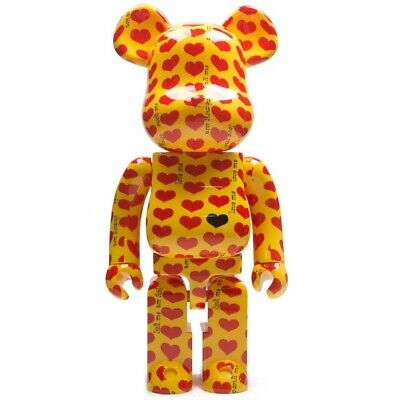 $1500 • Buy Medicom BE@RBRICK X Japan Hide Yellow Heart 1000% Bearbrick Figure