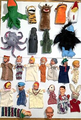 $69.99 • Buy Vintage HAND PUPPETS Mixed Lot! Dakin Mr. Rogers Punch & Judy Style Characters?