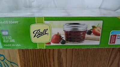 $22.99 • Buy Ball Regular Mouth Canning Mason Jars Quilted Crystal Glass Jelly Jar 4oz 12/Box