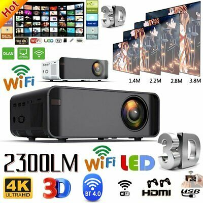 AU107.15 • Buy 4K 1080P HD Projector Bluetooth WiFi LED LCD Mini Video Theatre Home Cinema HDMI