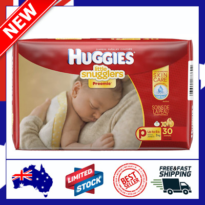 AU22.79 • Buy Huggies Premmie Nappies, Unisex, (up To 3kg), 30 Nappies FREE SHIPPING IN AU