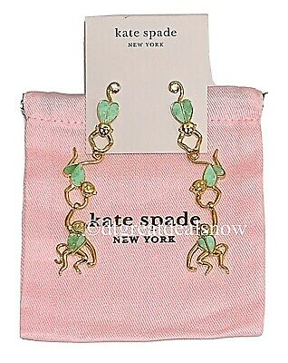 $ CDN95.67 • Buy NEW Kate Spade Animal Party Monkey Linear Earrings Green