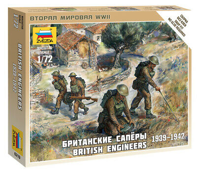 Zvezda 1/72 Figures British Engineers 1939 - 1942 Z6219 • 4.95£
