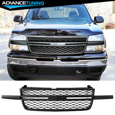 $135 • Buy Fits 05-07 Chevy Silverado 1500 2500HD 3500 Front Upper Grille Matte Black