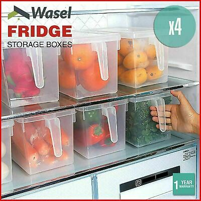 AU25.99 • Buy Wasel Refrigerator Storage Box Food Container Kitchen Fridge Organiser Freezer