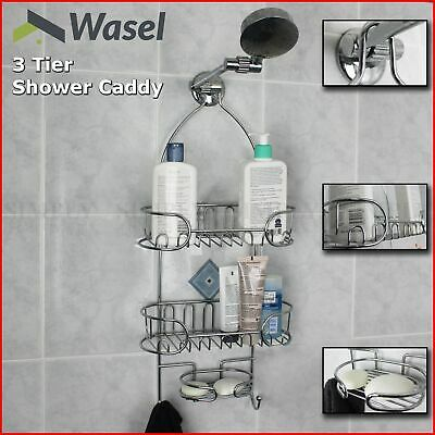 AU29.90 • Buy Shower Caddy Chrome Organiser Bath Shelf Shelves Storage Rack Hang Hook Bathroom