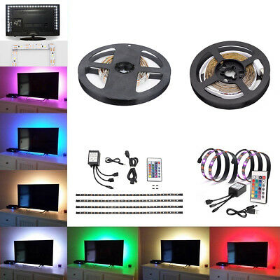 $8.99 • Buy LED Strip Light RGB White Mood Light Kit TV Back Light USB Battery Powered DC 5V
