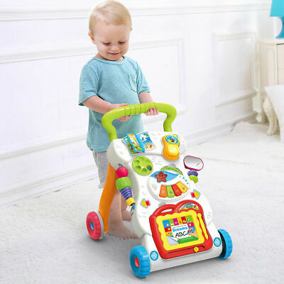 Baby Interactive First Steps Activity Push Along Walking Musical Baby Walker Toy • 16.14£