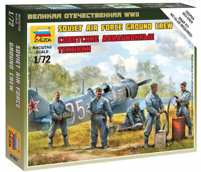 Zvezda 1/72 Figures - Soviet Air Force Ground Crew Z6187 • 4.95£