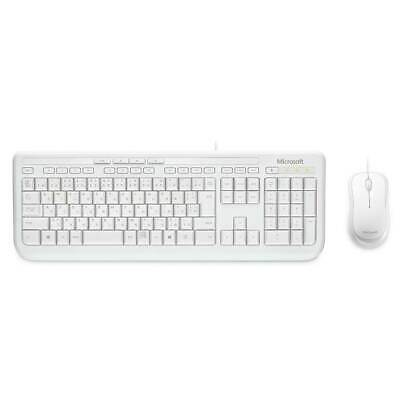 AU45.10 • Buy Microsoft Wired Desktop 600 Series USB Keyboard And Mouse Combo - White