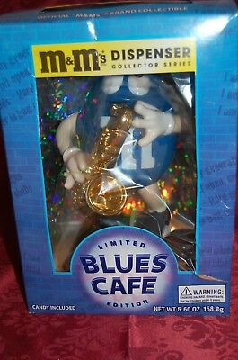 $29.99 • Buy M & M's 'LIMITED EDITION'  Blues Saxophone Cafe Candy Dispenser RARE !