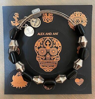 ALEX AND ANI 2014 Vintage 66 INDIE SPIRIT ONYX IMPULSE Pyramid RS Beaded Bangle • 8.68£
