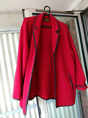 $44.95 • Buy Geiger Women's Red Wool Coat Jacket Size 40 Made In Austria