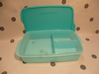 AU24 • Buy Tupperware Large Divided Lunch Box Blue New