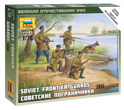Zvezda 1/72 Figures Soviet Frontier Guards 1941 Z6144 • 4.95£