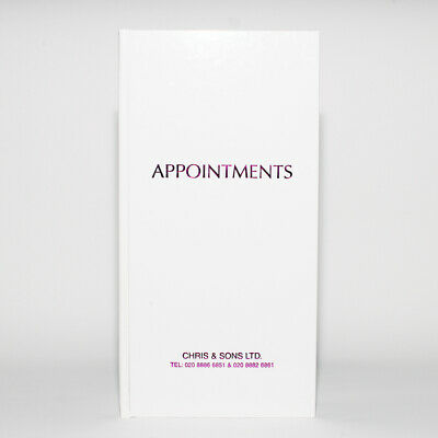 Quirepale Appointment Book 3 Column Assistant Beauty White • 11.89£
