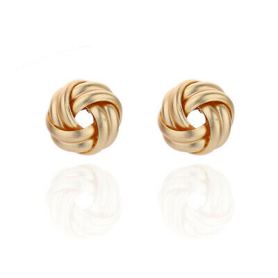 9ct Gold & Silver Celtic Knot Ladies Stud Earrings 3 Different Styles • 8.99£