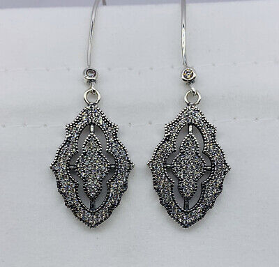 New Pandora SPARKLING LACE CZ DROP EARRINGS • 41.96£