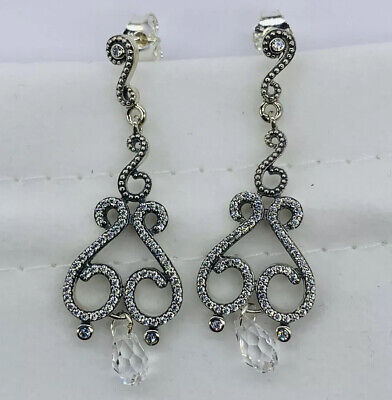 Nwt Pandora Earrings Swirling Chandelier Drops • 41.96£