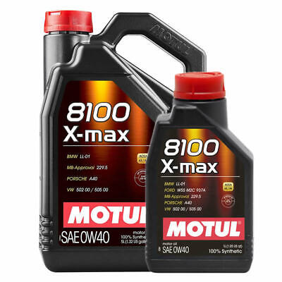 Motul 8100 X-MAX 0W40 Fully Synthetic Engine Oil. 1 To 10 Litres. Motul 0W-40 • 88.45£