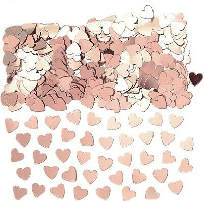 £2.29 • Buy Rose Gold Hearts Table Confetti Birthday Wedding Party Decoration Partyware
