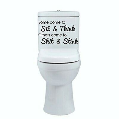 Toilet Funny Sticker SOME COME TO Vinyl Decal Bathroom Wall Door Seat Home Decor • 2.59£