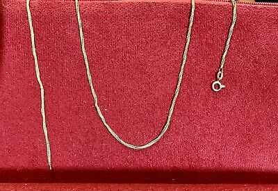 $300 • Buy Vintage 18k Yellow Gold Twisted Rope Chain 22""