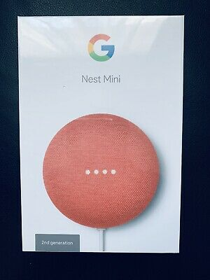 AU85 • Buy Brand New Google Home Mini Smart Assistant Speaker Voice Control - Coral 2nd Gen