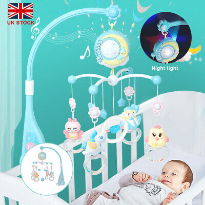 Baby Crib Mobile Musical Bed Bell Toy With Controller Music Night Light Toy • 18.89£