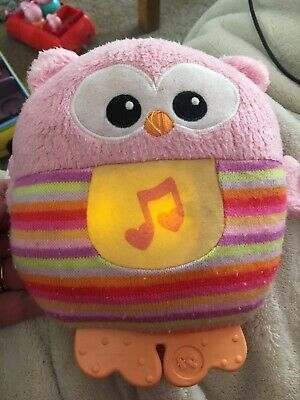Fisher Price Musical Owl Sooth & Glow Toy Night Light Teeter • 8£