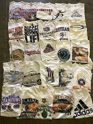 $ CDN305.48 • Buy Vintage Wholesale T Shirt 25 Lot Graphic 00s Bundle Sports NBA NCAA NFL MLB