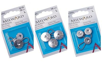 £3.49 • Buy Milward Flexi Button Extenders Adjusters Collar Waist Expanders Shirts Trousers
