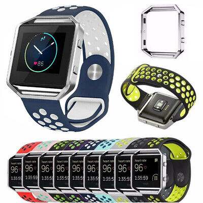$ CDN8.52 • Buy For Fitbit Blaze Tracker Sport Silicone Strap Smart Watch Band + Frame Wristband