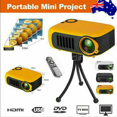 AU59.49 • Buy Mini Portable Pocket Projector HD 1080P LED Home Theater Video Projector HDMI AU