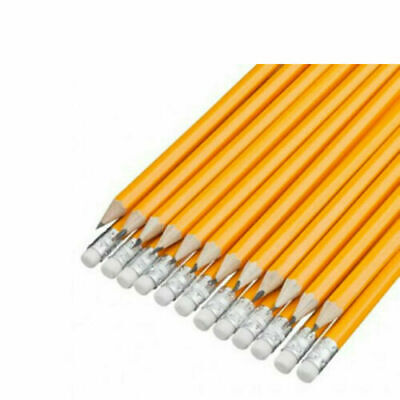 12 Hb Pencils With Rubber Eraser Tip School Learning Kids Office Stationery  • 2.49£