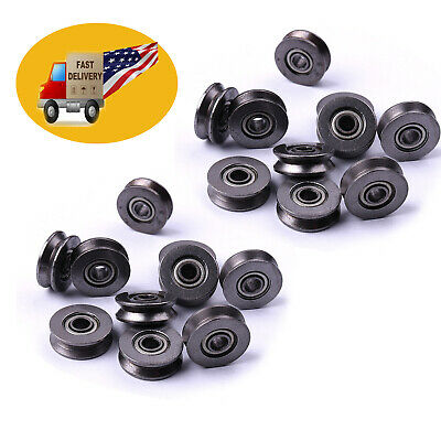 $9.57 • Buy 20pcs Metal Sealed Guide Wire Line Track Deep V Groove Pulley Rail Ball Bearing