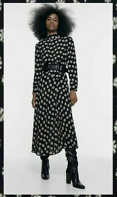 $49.99 • Buy ZARA Black White Floral Flower Print Long Dress - NEW - SOLD OUT - 2 SIZES